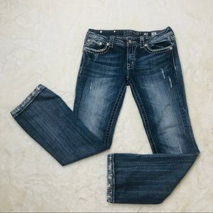 Miss Me jeans distressed straight boot cut